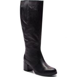 Kozaki ARA - 12-16940 Schwarz. Czarne buty zimowe damskie ara, z materiału, przed kolano, na wysokim obcasie, na obcasie. Za 679,00 zł.