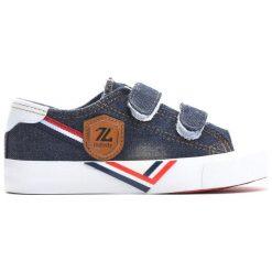 Granatowe Trampki Peaceful Days. Niebieskie buty sportowe chłopięce marki Born2be, z materiału, młodzieżowe, z okrągłym noskiem. Za 49,99 zł.
