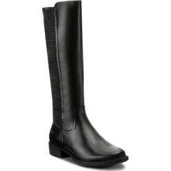 Oficerki MARCO TOZZI - 2-25644-29 Black Ant. Comb 096. Czarne buty zimowe damskie marki Marco Tozzi, z materiału, na obcasie. W wyprzedaży za 349,00 zł.
