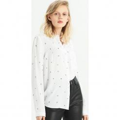 Koszula - Srebrny. Czerwone koszule damskie marki Sinsay, l, z nadrukiem. Za 39,99 zł.