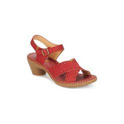 Sandały El Naturalista  AQUA. Czerwone sandały trekkingowe damskie El Naturalista. Za 367,20 zł.