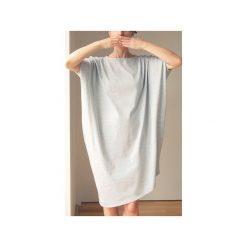 Asymetryczna sukienka krótki rękaw szara. Szare sukienki asymetryczne One mug a day, z bawełny, z asymetrycznym kołnierzem, z krótkim rękawem, mini. Za 199,00 zł.