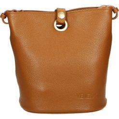 Torebka - 55-7771-M D C. Żółte torebki klasyczne damskie Venezia, ze skóry. Za 185,00 zł.
