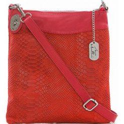 Torebki klasyczne damskie: Skórzana torebka w kolorze czerwonym - 26 x 28 x 3 cm