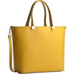 Torebka CREOLE - K10226 Żółty. Żółte torebki klasyczne damskie Creole, ze skóry. W wyprzedaży za 229,00 zł.
