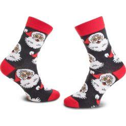 Skarpety Wysokie Unisex FREAK FEET - LMIK-BLR Kolorowy Szary. Szare skarpetki damskie Freak Feet, w kolorowe wzory, z bawełny. Za 19,99 zł.