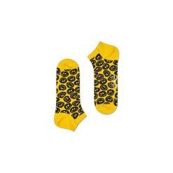 Skarpetki Happy Socks - Twisted Smile Low (TSM05-2000). Żółte skarpetki męskie marki Happy Socks, w kolorowe wzory, z bawełny. Za 27,90 zł.