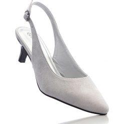 Buty ślubne damskie: Czółenka z paskiem bonprix jasnoszary