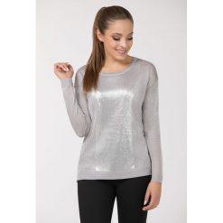 Swetry klasyczne damskie: Sweter z połyskiem