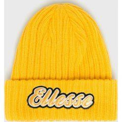 Ellesse - Czapka. Pomarańczowe czapki zimowe męskie Ellesse, na zimę, z dzianiny. Za 119,90 zł.
