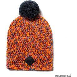 Czapka dziana KRAFF ORANGE FUN handmade. Pomarańczowe czapki damskie Pakamera, z aplikacjami, z dzianiny. Za 119,00 zł.
