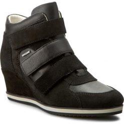 Sneakersy GEOX - D Illusion D D7254D 02285 C9999 Czarny. Czarne sneakersy damskie Geox, z materiału. W wyprzedaży za 329,00 zł.