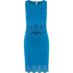 Sukienki: Sukienka z wycięciami bonprix niebieski capri