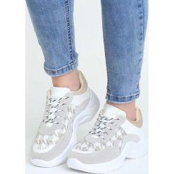 Szaro-Białe Buty Sportowe Pair Sect. Białe buty sportowe damskie Born2be, z materiału. Za 99,99 zł.