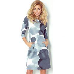 Sukienki: Marcella Sukienka z zamkami – duże szare koła