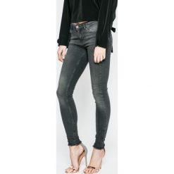 Review - Jeansy. Szare jeansy damskie rurki marki Review, l, z tkaniny, z okrągłym kołnierzem. W wyprzedaży za 139,90 zł.