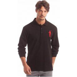 Polo Club C.H..A Koszulka Polo Męska L Czarna. Czarne koszulki polo Polo Club C.H..A, l. W wyprzedaży za 179,00 zł.