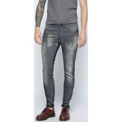 G-Star Raw - Jeansy Revend Super Slim. Szare jeansy męskie slim G-Star RAW, z aplikacjami, z bawełny. Za 459,90 zł.