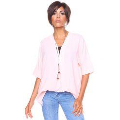 """Bluzki damskie: Koszulka """"Nana"""" w kolorze jasnoróżowym"""