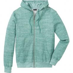 Bluza rozpinana z kapturem bonprix jasnozielony melanż. Zielone bluzy męskie rozpinane bonprix, l, melanż, z kapturem. Za 89,99 zł.