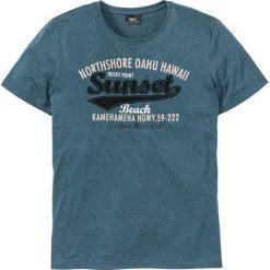 T-shirty męskie z nadrukiem: T-shirt Regular Fit bonprix niebieskozielony morski