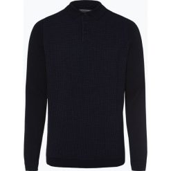 Finshley & Harding - Sweter męski, niebieski. Czarne swetry klasyczne męskie marki Finshley & Harding, w kratkę. Za 179,95 zł.