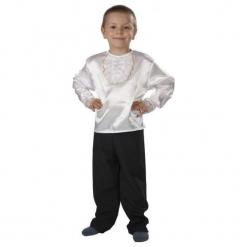 Koszula z Atłasu 110 - kostiumy dla dzieci,. Szare koszule chłopięce marki ASTER. Za 45,22 zł.