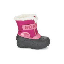 Śniegowce Dziecko Sorel  CHILDRENS SNOW COMMANDER. Czerwone buty zimowe chłopięce Sorel. Za 225,00 zł.