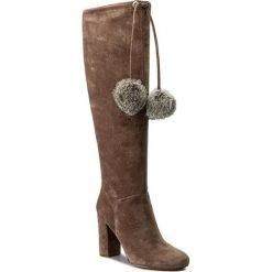 Kozaki MICHAEL KORS - Remi Boot 40F7REHB5S  Taupe. Brązowe buty zimowe damskie Michael Kors, z materiału, na obcasie. W wyprzedaży za 819,00 zł.