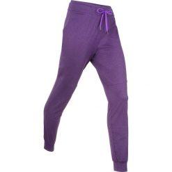 Spodnie dresowe damskie: Spodnie dresowe termoaktywne funkcyjne, długie bonprix ciemnofioletowy melanż