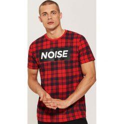 T-shirt w kratę - Czerwony. Czerwone t-shirty męskie marki House, l. Za 49,99 zł.