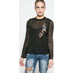 Answear - Bluzka Blossom Mood. Szare bluzki z odkrytymi ramionami ANSWEAR, l, z materiału, casualowe, ze stójką. W wyprzedaży za 49,90 zł.