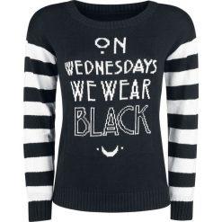Bluzy rozpinane damskie: American Horror Story On Wednesdays We Wear Black Bluza czarny/biały