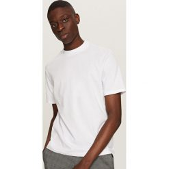 T-shirty męskie: Jednolity t-shirt basic – Biały