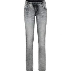 """Dżinsy SKINNY bonprix czarny """"washed"""". Czarne jeansy damskie bonprix, w paski, z jeansu. Za 49,99 zł."""