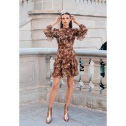 Camelowa Sukienka Lea - Limited Edition. Brązowe sukienki mini marki other, l. Za 259,99 zł.