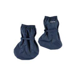 Playshoes  Przeciwdeszczowe osłonki na buty marine - niebieski. Niebieskie buciki niemowlęce chłopięce Playshoes, z materiału. Za 45,00 zł.