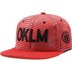 Czapka męska snapback czerwona (hx0208). Czerwone czapki z daszkiem męskie marki Dstreet, z haftami, eleganckie. Za 69,99 zł.