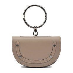 Torebki i plecaki damskie: Skórzana torebka w kolorze fango – (S)15 x (W)23 x (G)5 cm