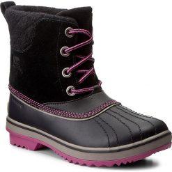 Śniegowce SOREL - Youth Slimpack II Lace NY2416 Black/Kettle 011. Czarne śniegowce damskie Sorel, z gumy, na niskim obcasie. W wyprzedaży za 299,00 zł.