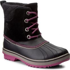 Buty zimowe damskie: Śniegowce SOREL - Youth Slimpack II Lace NY2416 Black/Kettle 011