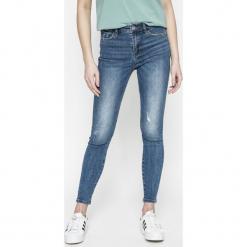 Miss Sixty - Jeansy LEONORE. Niebieskie rurki damskie Miss Sixty, z aplikacjami, z bawełny. W wyprzedaży za 239,90 zł.