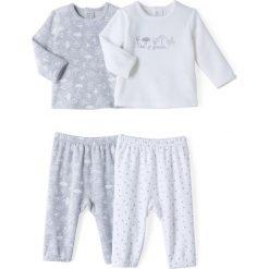 Dwuczęściowa piżama z weluru (2 szt.)- Oeko Tex. Szare bielizna chłopięca marki La Redoute Collections, z nadrukiem, z bawełny. Za 103,91 zł.