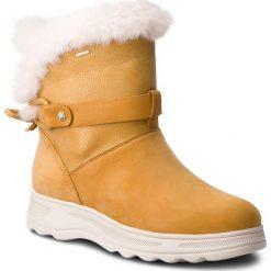 Śniegowce GEOX - D Hosmos B Abx C D84AUC 0322N C5B2E Biscuit/Dk Gold. Czerwone buty zimowe damskie marki Reserved, na niskim obcasie. W wyprzedaży za 419,00 zł.