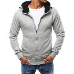 Bluzy męskie: Bluza męska z kapturem rozpinana szara (bx2397)