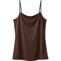 Bluzki damskie: Koszulka na cienkich ramiączkach, lejący materiał