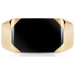 Pierścionek Złoty - złoto żółte 585. Żółte sygnety męskie W.KRUK, złote. Za 2390,00 zł.