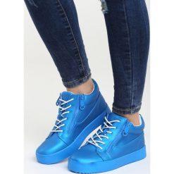 Niebieskie Sneakersy I Promise You. Czarne sneakersy damskie marki Born2be, z materiału. Za 89,99 zł.