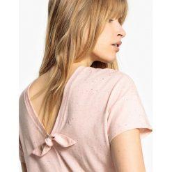 T-shirty damskie: Koszulka z dekoltem w serek z tyłu i z krótkim rękawem