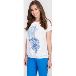 Bluzki asymetryczne: Bluzka bombka z pastelowym nadrukiem QUIOSQUE